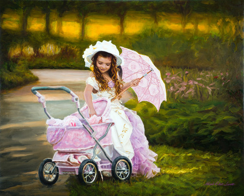Crimson-Carriage_Oil Painting by Mark Lovett