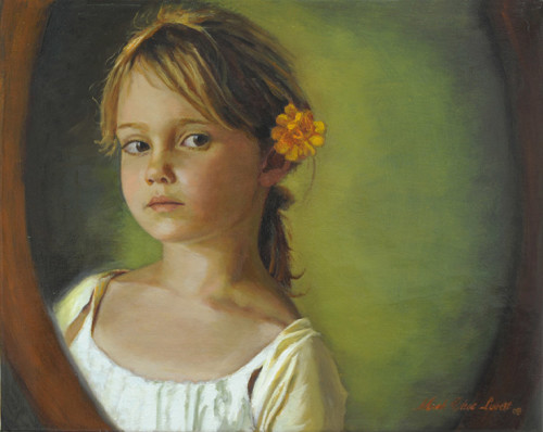 I Wonder Oil Painting by Mark Lovett