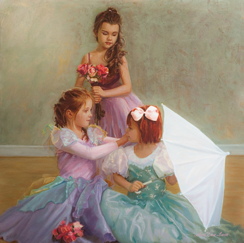 Last Minute Touches Oil Painting by Mark Lovett