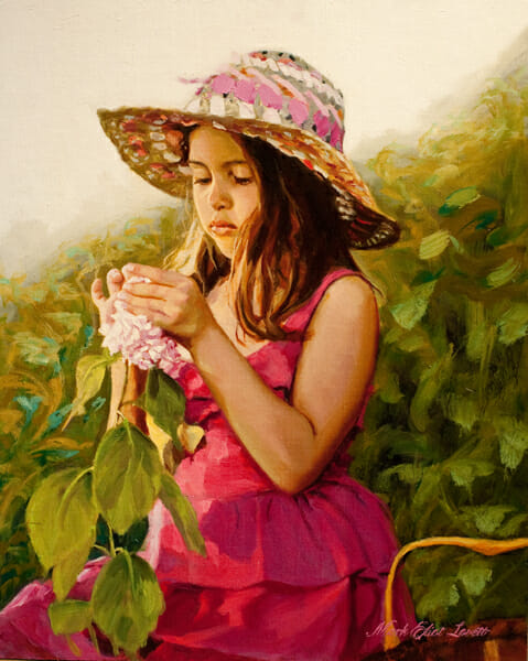 A Mothers Gift Oil Painting by Mark Lovett