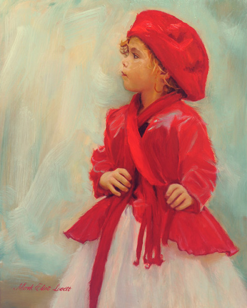 Little Red Oil Painting by Mark Lovett