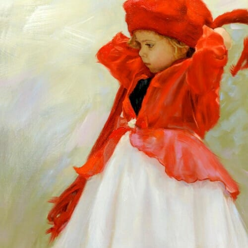 Portrait Artist for Hire - Red Cap Girl