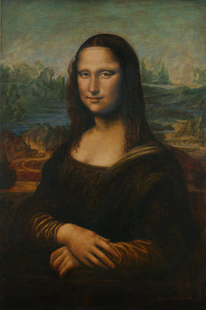 Mona Lisa painting reproduction by Mark Lovett at marklovettstudio.com