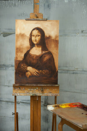 Mona Lisa painting commission in progress - picture
