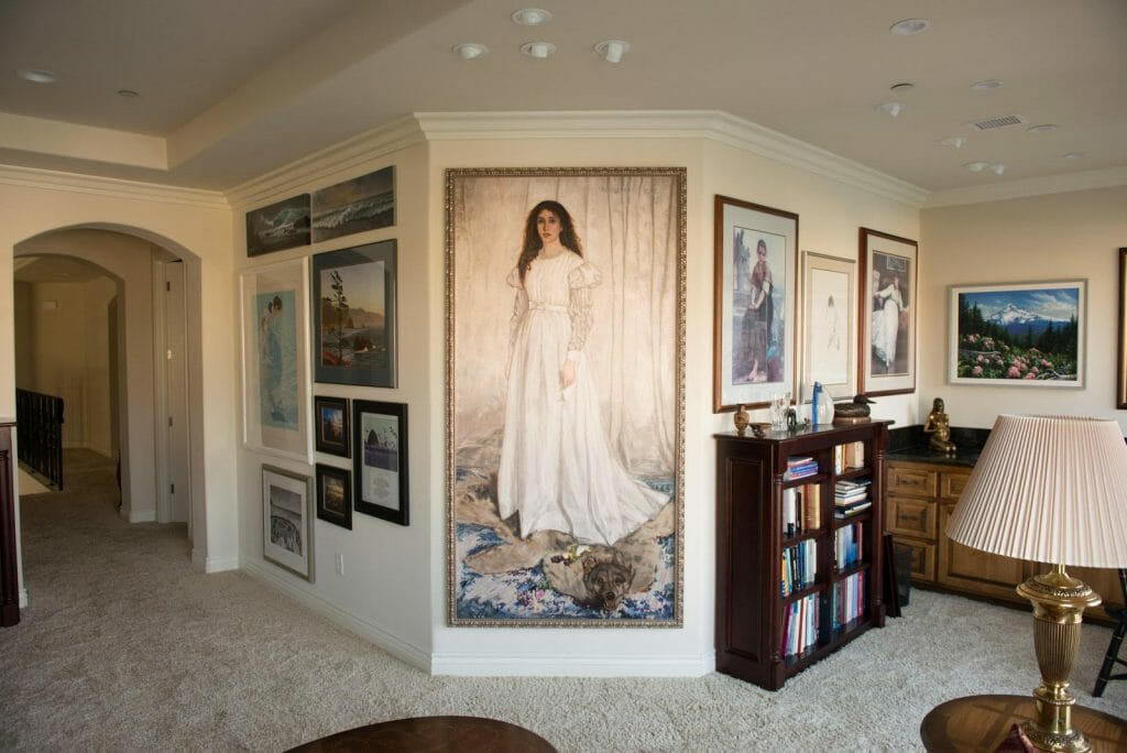Mark Lovett's Whistler Painting On Clients Wall