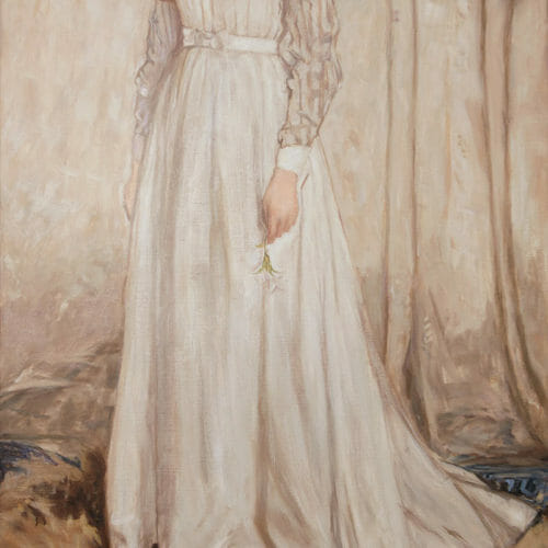 """James Whistler 'Symphony In White' painting , 42x84"""", by Mark Lovett as of 5-23-16, oil on canvas"""