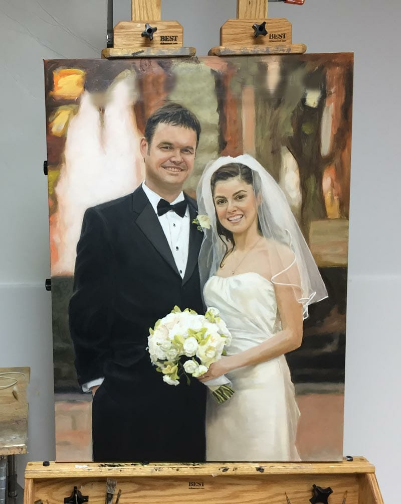 A late painting stage for portrait commission Oil Painting