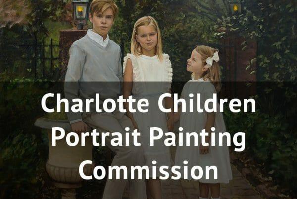 charlotte children portrait painting commission