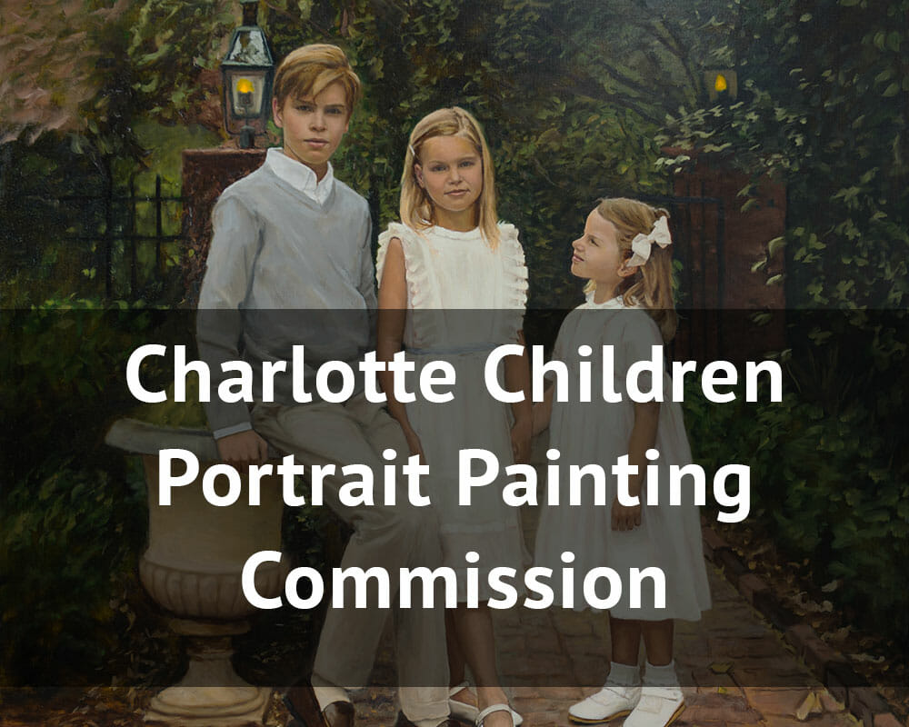 charlotte children portrait painting commission