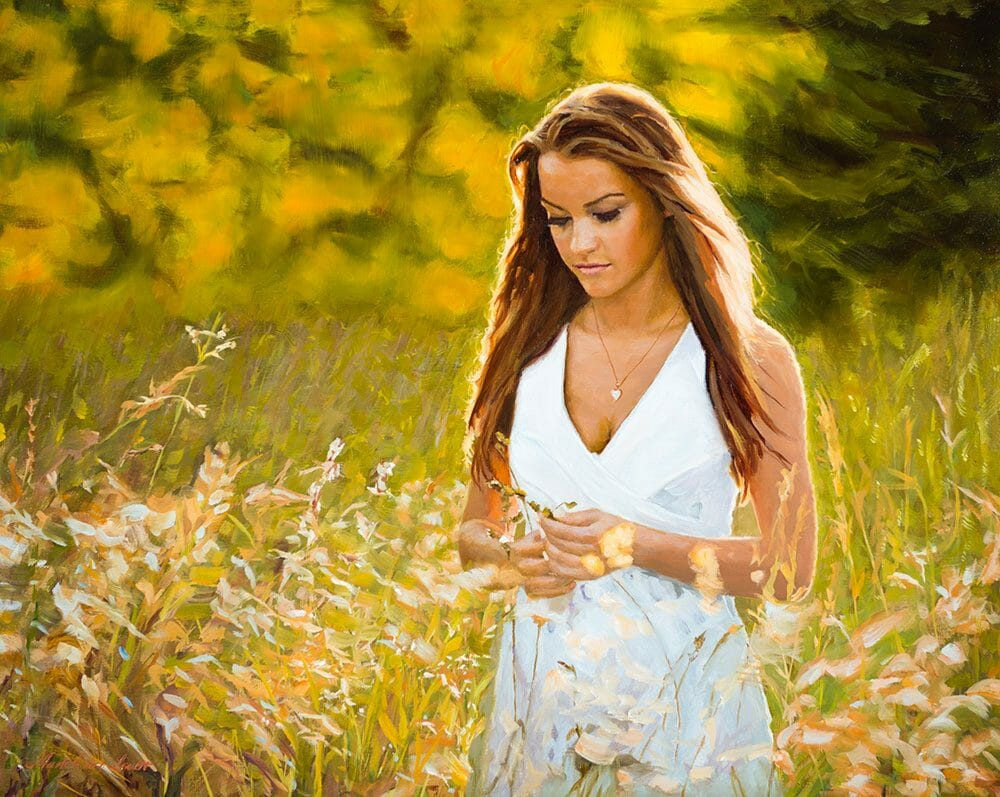 Golden Field portrait painting