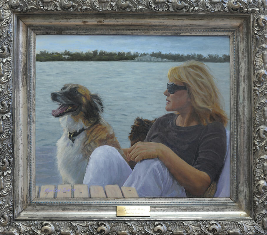 Oil portrait 'Lyn&Bobby' by Mark Lovett