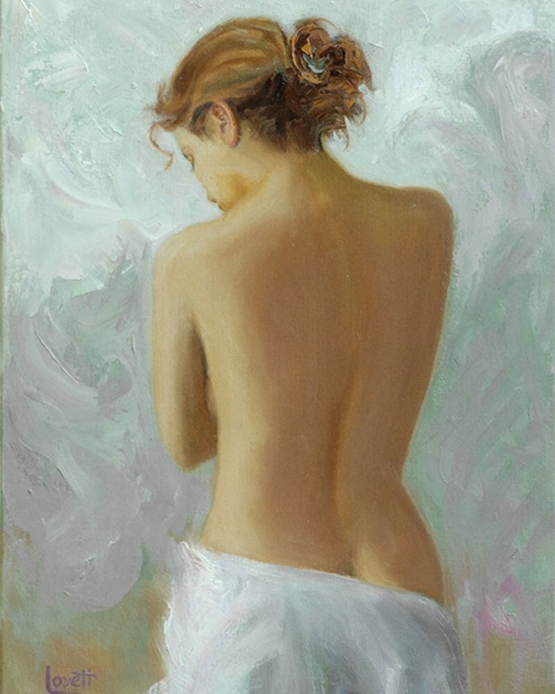 oil painting 'Reflection' by Mark Lovett