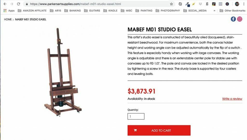 MABEF Studio easel M/01