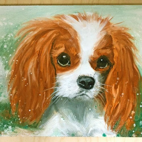 Cavalier King Charles oil portrait painting commissions