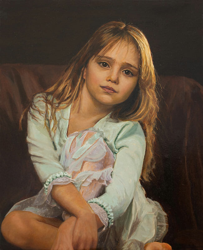 Chid Oil Portrait Painting Brydon