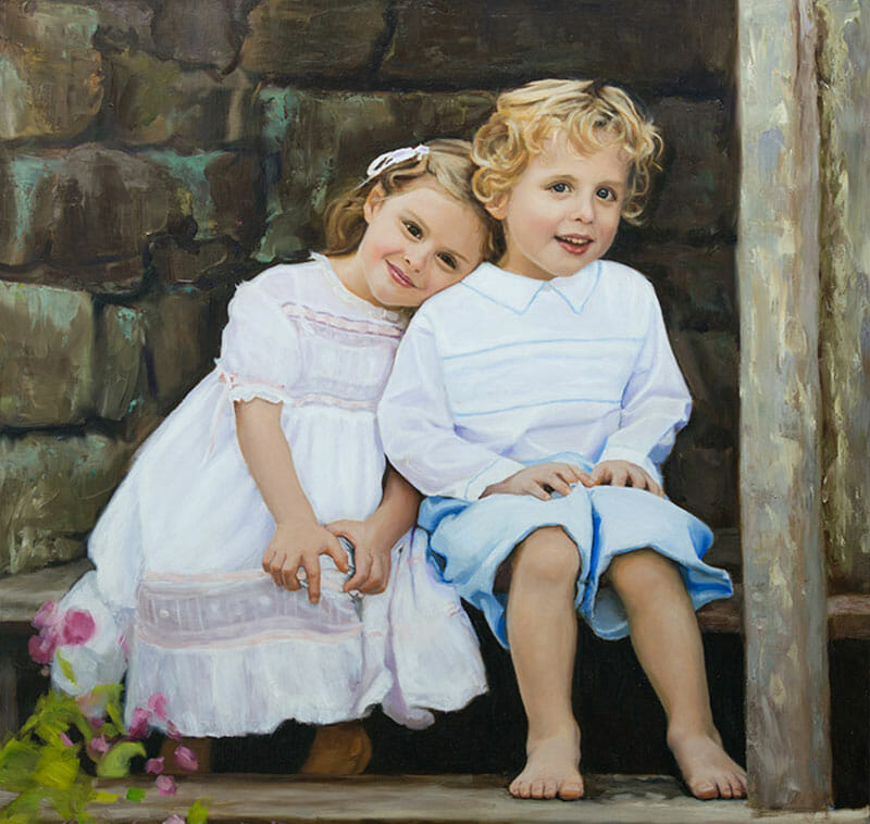 portrait artist for hire children-painter-c