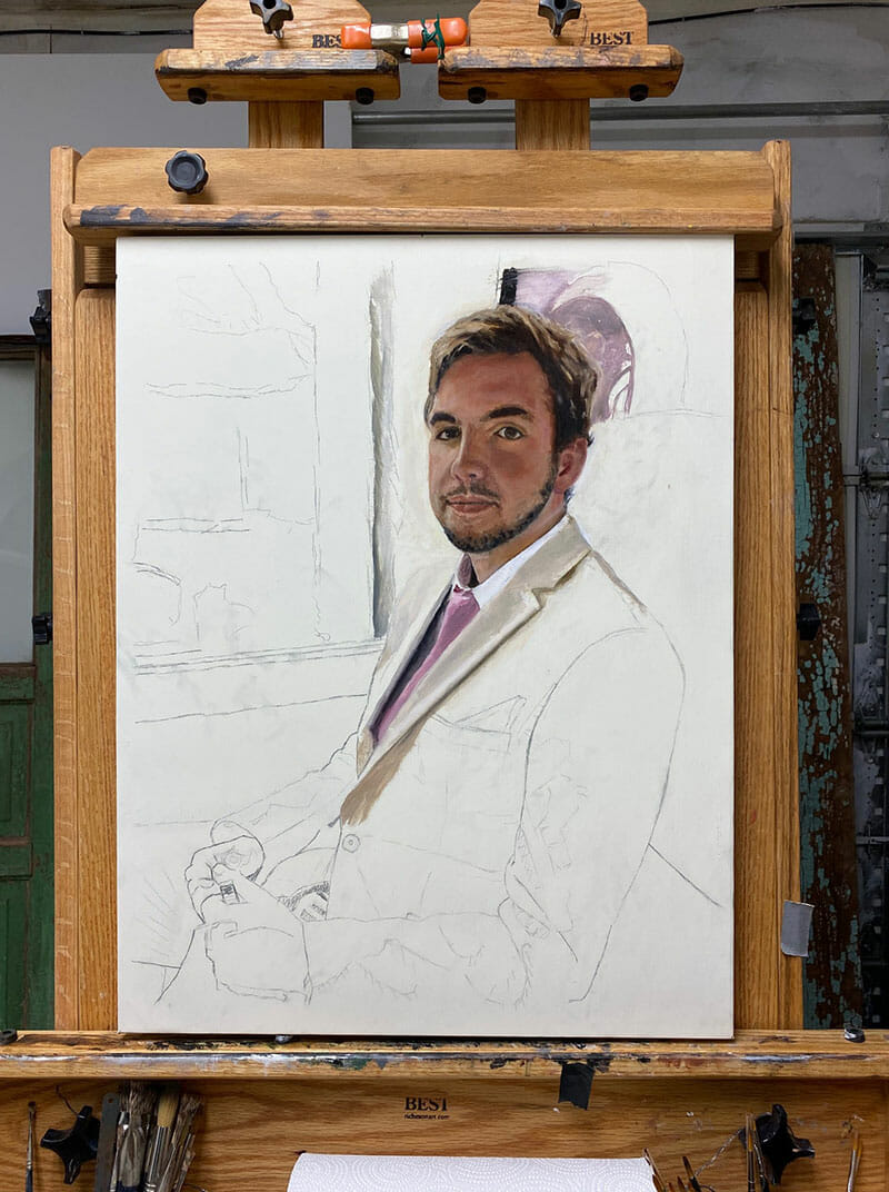 kyle-portrait-painting-commission-in-progress-early stage