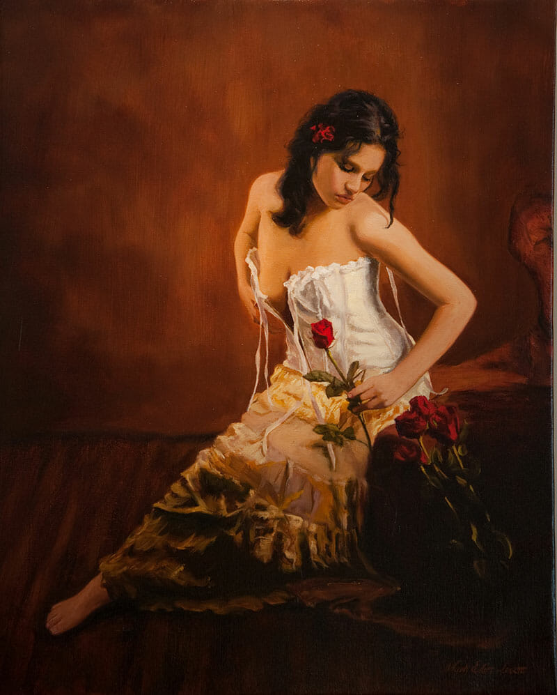 thoughts of love - oil painting by Mark Lovett